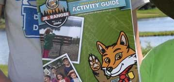 cover of a jr. ranger activity book