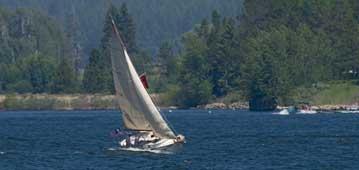 sailboat on a lake