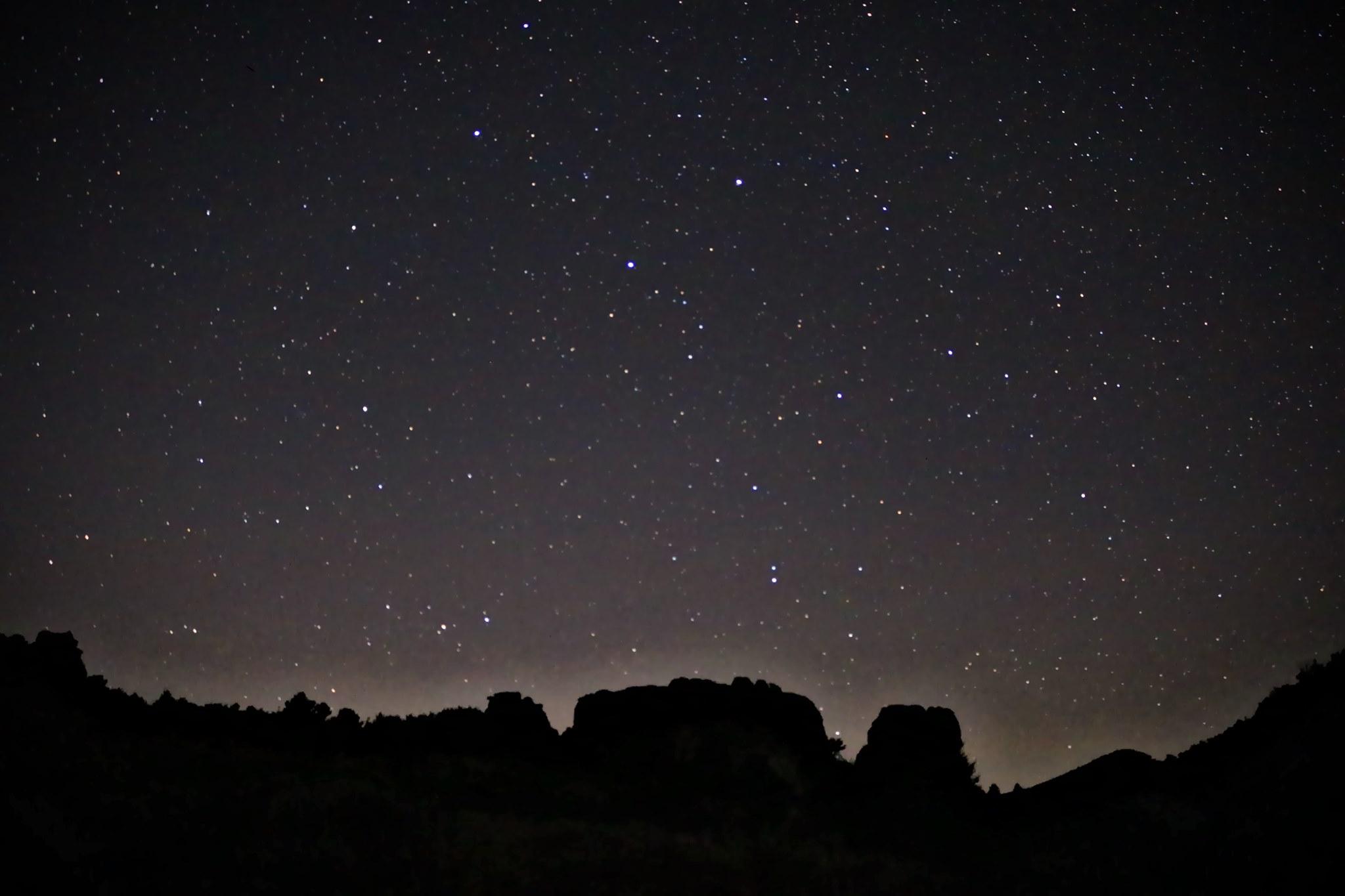 Dark sky view at Castle Rocks