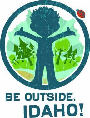 be outside, Idaho logo