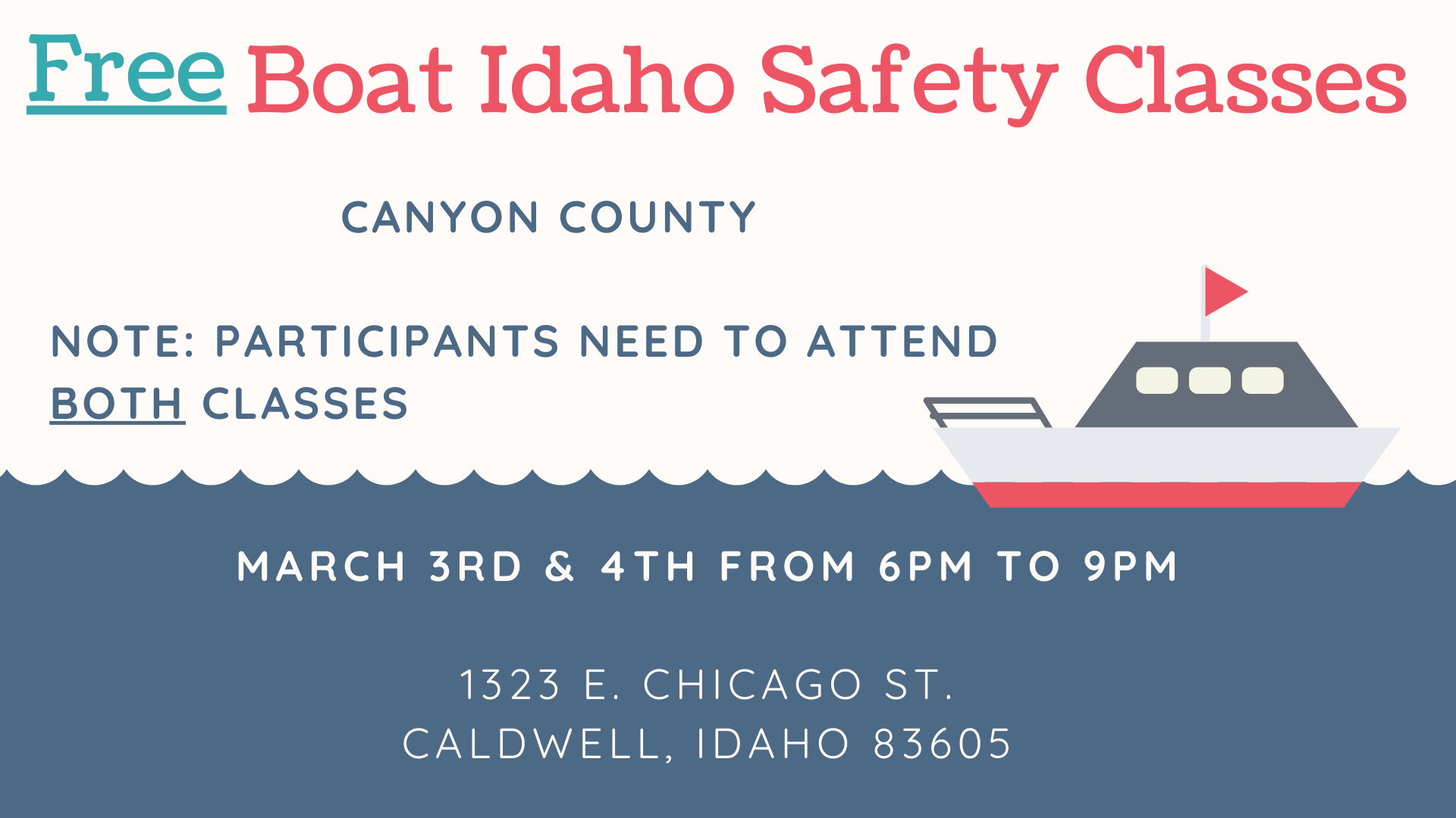Boat Safety Class in Canyon County