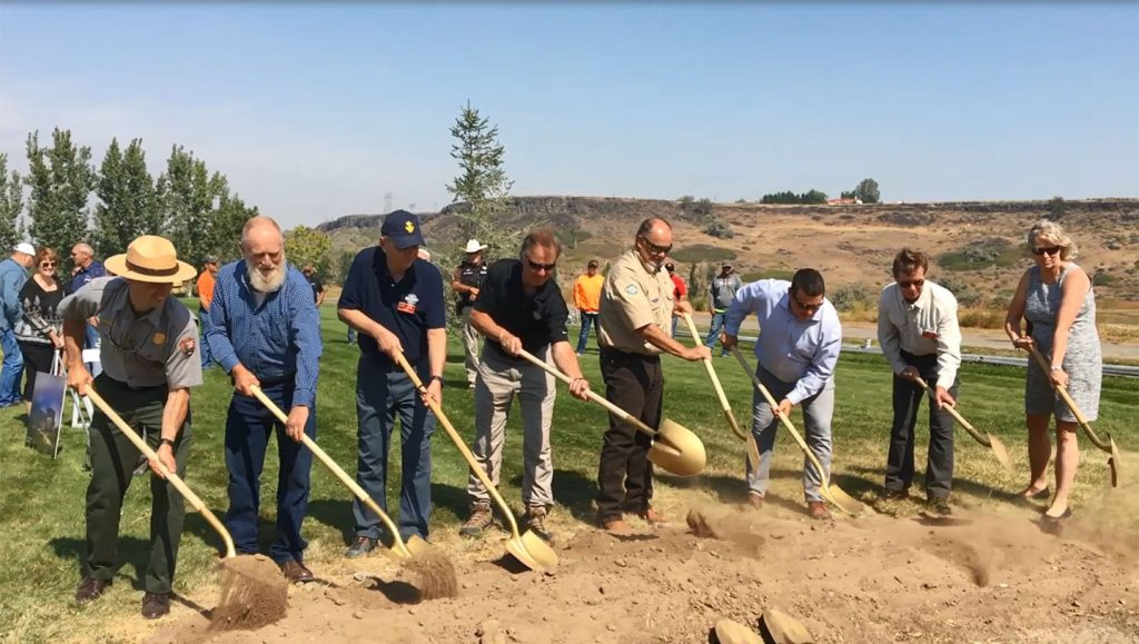 Breaking ground for new Visitors Center.