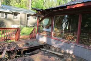 Damage at the Chatcolet Cottage in Heyburn State Park