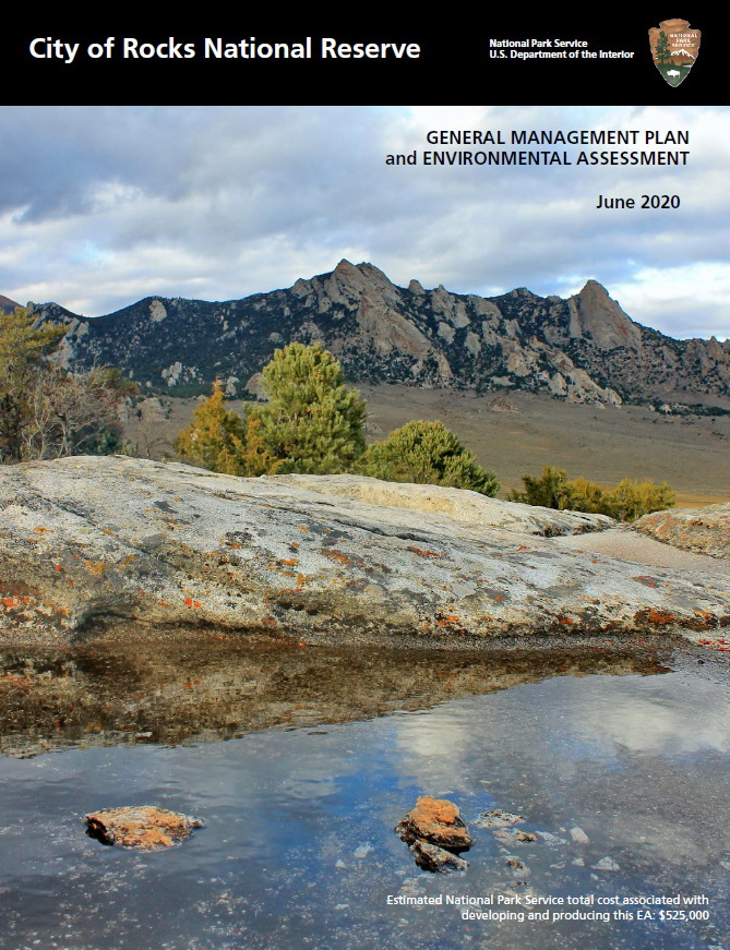 city of rocks general management plan cover