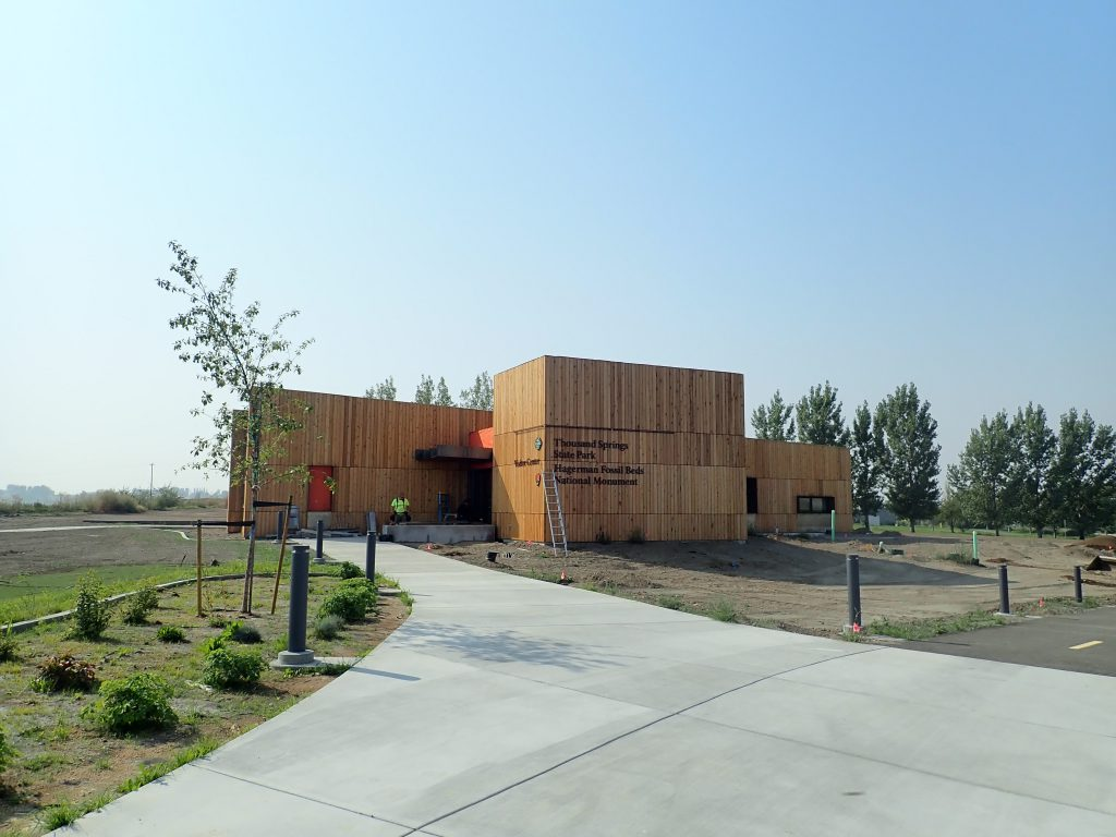 Front view of the new Thousand Springs visitor center at Billingsley Creek!