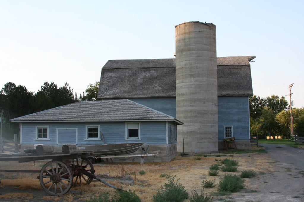 blue Farmhouse at Ritter Island
