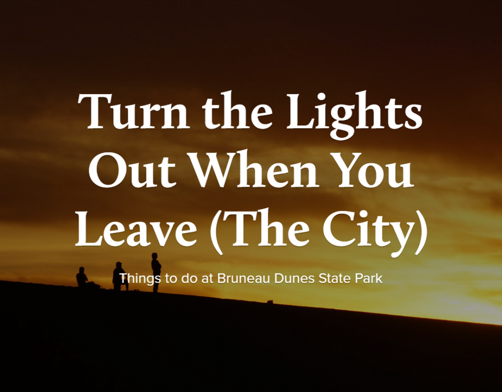 Turn the Lights Out When you leave (the city)