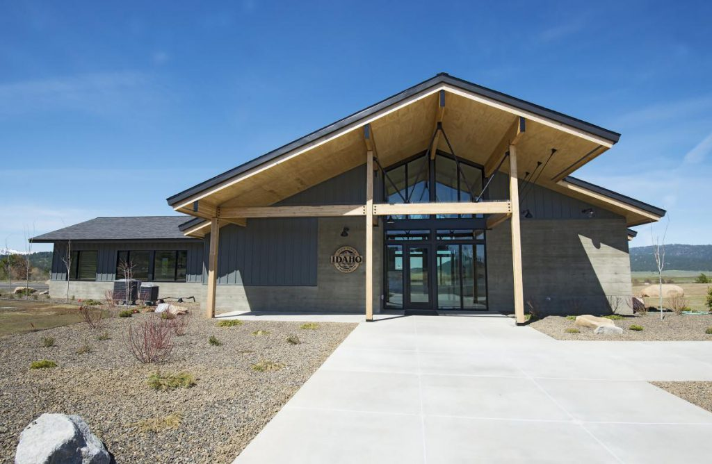 new visitor center building at lake cascade