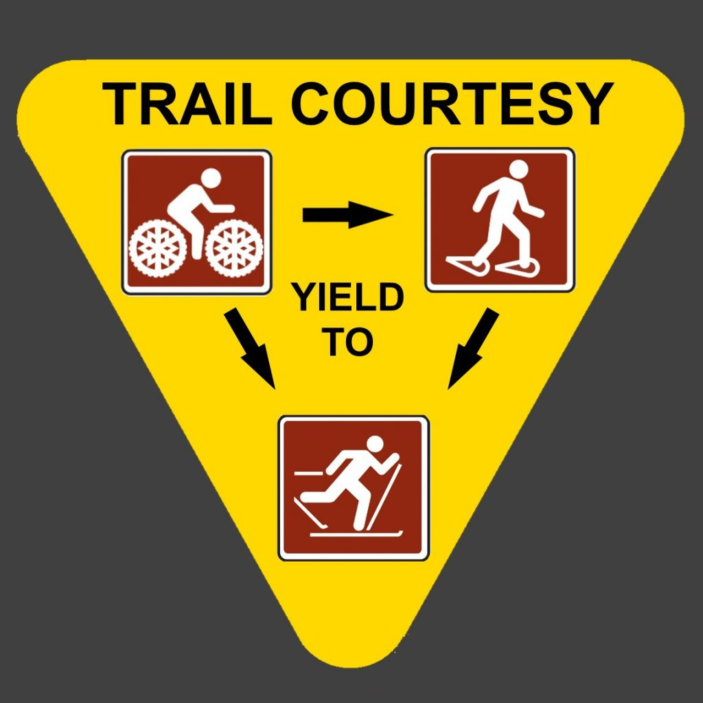 trail courtesy yield to sign