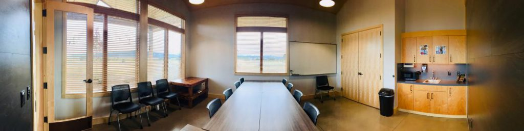 panoramic of the conference room interior