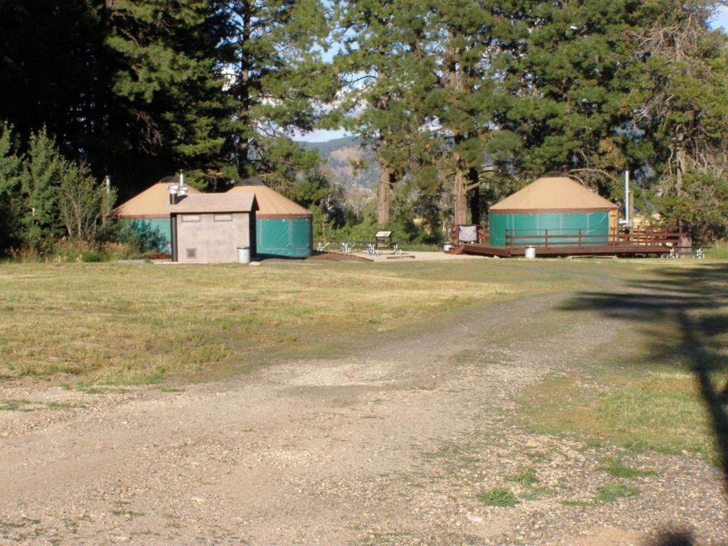 green yurts