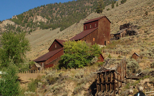 old mine in hillside