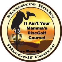 massacre rocks disc golf course logo
