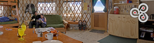 inside of stargaze yurt